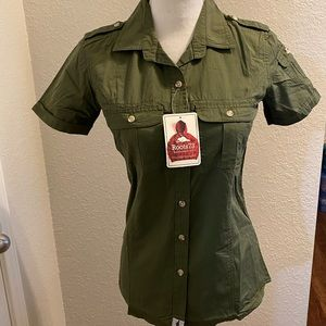 Roots Tops - NWT Roots73 button down shirt size xs